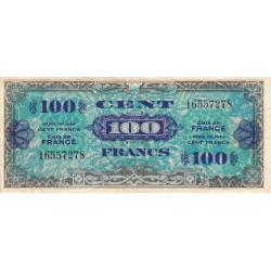 VF 20-1 - 100 francs - Drapeau - 1944 - Etat : TTB-