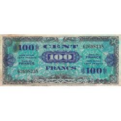 VF 20-01 - 100 francs - Drapeau - 1944 - Etat : TB-