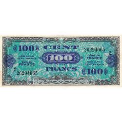 VF 20-2 - 100 francs série 2 - Drapeau - 1944 - Etat : TTB+