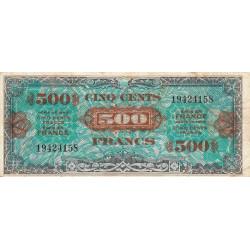 VF 21-01 - 500 francs - Drapeau - 1944 - Etat : TB+