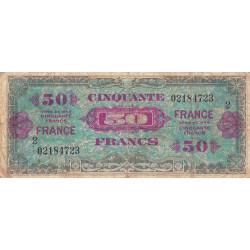 VF 24-02 - 50 francs série 2 - France - 1944 - Etat : B+