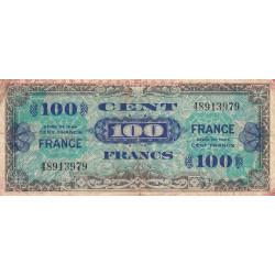 37- Loches (dactylographié)  - VF 25-01 - 100 francs - France - 1944 - Etat : B+