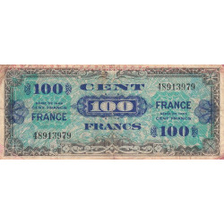 37- Loches - VF 25-1 - 100 francs - France - 1944 - Etat : B+