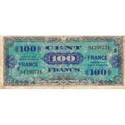 VF 25-3 - 100 francs série 3- France - 1944 - Etat : TB-