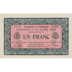 Alençon / Flers (Orne) - Pirot 6-36 - 1 franc - 1915 - Etat : SUP
