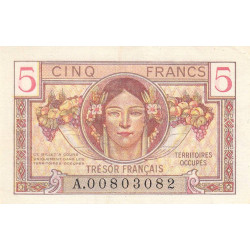 VF 29-01 - 5 francs - Trésor français - 1947 - Etat : SUP