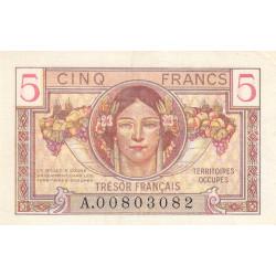 VF 29-01 - 5 francs - Trésor français - Territoires occupés - 1947 - Etat : SUP