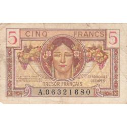 VF 29-01 - 5 francs - Trésor français - 1947 - Etat : TB-