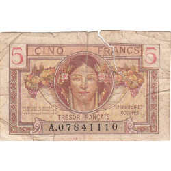 VF 29-01 - 5 francs - Trésor français - 1947 - Etat : B