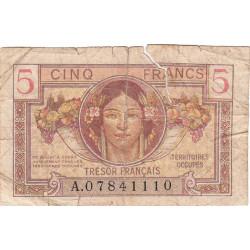 VF 29-01 - 5 francs - Trésor français - Territoires occupés - 1947 - Etat : B