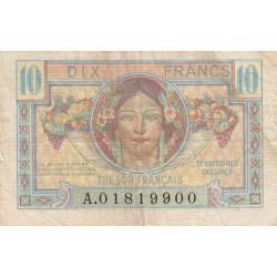 VF 30-01 - 10 francs - Trésor français - Territoires occupés - 1947 - Etat : TB