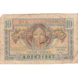 VF 30-01 - 10 francs - Trésor français - Territoires occupés - 1947 - Etat : B+