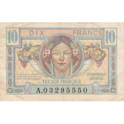 VF 30-01 - 10 francs - Trésor français - Territoires occupés - 1947 - Etat : TTB-