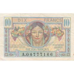 VF 30-01 - 10 francs - Trésor français - Territoires occupés - 1947 - Etat : TTB