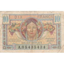 VF 30-01 - 10 francs - Trésor français - 1947 - Etat : TB-