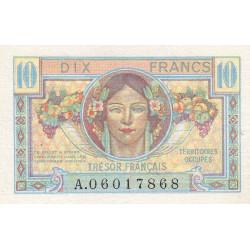 VF 30-01 - 10 francs - Trésor français - Territoires occupés - 1947 - Etat : SUP+