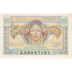 VF 30-01 - 10 francs - Trésor français - 1947 - Etat : SUP-