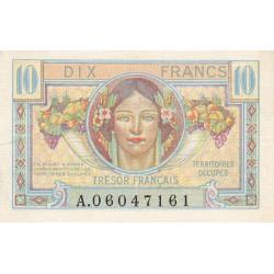 VF 30-01 - 10 francs - Trésor français - Territoires occupés - 1947 - Etat : SUP-