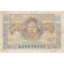 VF 30-01 - 10 francs - Trésor français - Territoires occupés - 1947 - Etat : TB-