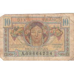 VF 30-01 - 10 francs - Trésor français - Territoires occupés - 1947 - Etat : B-