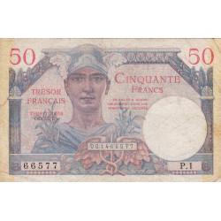 VF 31-01 - 50 francs - Trésor français - Territoires occupés - 1947 - Etat : TB