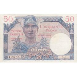 VF 31-1 - 50 francs - Trésor français - 1947 - Etat : TTB