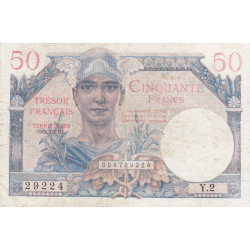 VF 31-01 - 50 francs - Trésor français - 1947 - Etat : TB