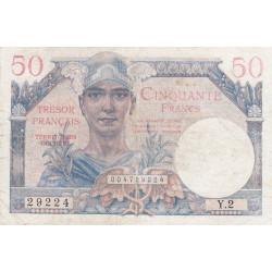 VF 31-1 - 50 francs - Trésor français - 1947 - Etat : TB