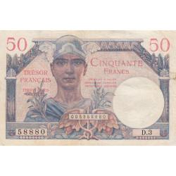 VF 31-01 - 50 francs - Trésor français - Territoires occupés - 1947 - Etat : TB+