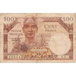 VF 32-01 - 100 francs - Trésor français - 1947 - Etat : TB-