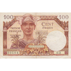 VF 32-01 - 100 francs - Trésor français - Territoires occupés - 1947 - Etat : TB+