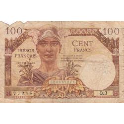 VF 32-01 - 100 francs - Trésor français - 1947 - Etat : AB