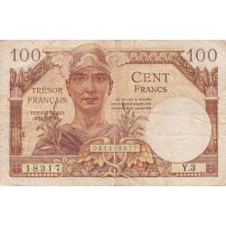 VF 32-01 - 100 francs - Trésor français - Territoires occupés - 1947 - Etat : TB