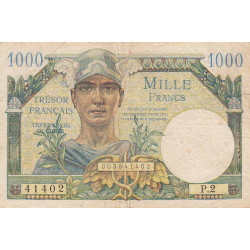 VF 33-01 - 1'000 francs - Trésor français - 1947 - Etat : TB