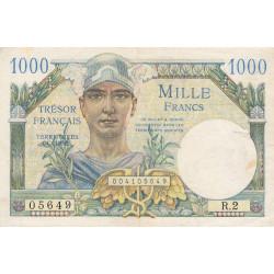 VF 33-01 - 1'000 francs - Trésor français - 1947 - Etat : TTB