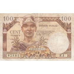 VF 34-01 - 100 francs - Trésor public - 1955 - Etat : TB-