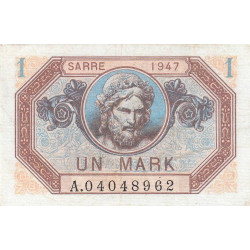 VF 44-01 - 1 mark - Sarre - 1947 - Etat : TTB+