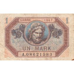 VF 44-01 - 1 mark - Sarre - 1947 - Etat : TB+