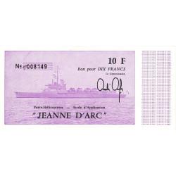 "Porte-Hélicoptères ""Jeanne d'Arc"" - 10 francs - 1980 - Etat : NEUF"