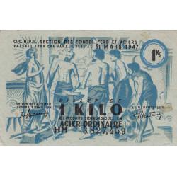 1 kg acier ordinaire - 31-03-1947 - Endossé - Etat : TTB+
