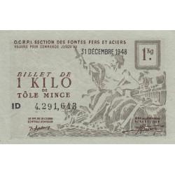 1 kg tôles minces - 31-12-1948 - Non endossé - Etat : SUP+