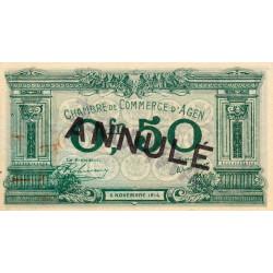 Agen - Pirot 2-2c - 50 centimes - 05/11/1914 - Annulé - Etat : SUP