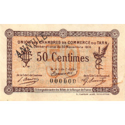 Albi / Castres / Mazamet (Tarn) - Pirot 5-2 - 50 centimes - Annulé - 1914 - Etat : TTB