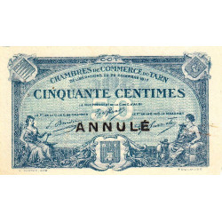Albi / Castres / Mazamet (Tarn) - Pirot 5-10 - 50 centimes - 22/12/1917 - Annulé - Etat : SUP