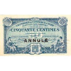 Albi / Castres / Mazamet (Tarn) - Pirot 5-10 - 50 centimes - Annulé - 1917 - Etat : SUP