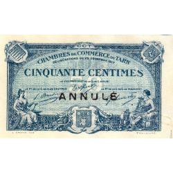 Albi / Castres / Mazamet (Tarn) - Pirot 5-10 - 50 centimes - 22/12/1917 - Annulé - Etat : TTB+