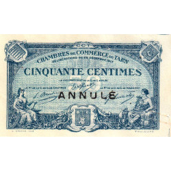 Albi / Castres / Mazamet (Tarn) - Pirot 5-10 - 50 centimes - Annulé - 1917 - Etat : TTB+