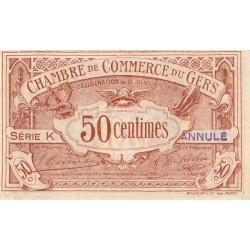 Auch (Gers) - Pirot 15-13a - Série K - 50 centimes - Annulé - 1918 - Etat : SUP