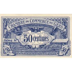 Auch (Gers) - Pirot non répertorié - 50 centimes - Série N - 26/11/1920 - Spécimen - Etat : SUP+
