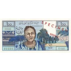 Mauritanie - Pick 1s - 100 ouguiya - 20/06/1973 - Spécimen - Etat : NEUF